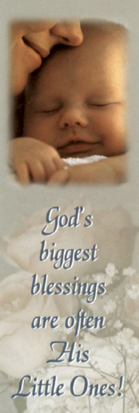 Bookmark - God's Biggest Blessings are often His Little Ones - Pack of 100