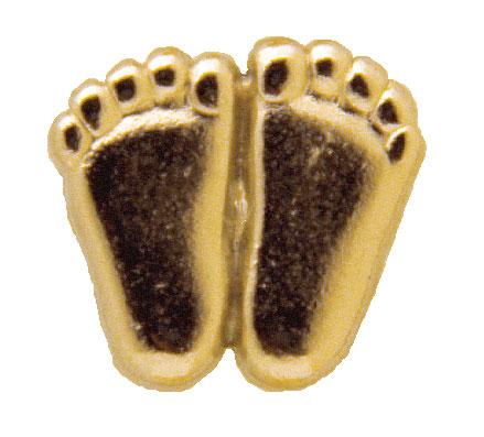 Precious Feet Pins Gilt-Gold Finish