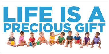 Banner - Life is A Precious Gift - 8' by 4'