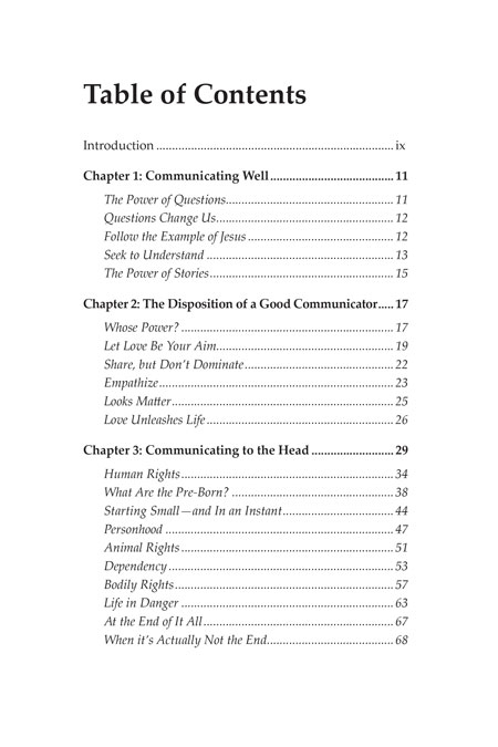 Book - Love Unleashes Life - Table of Contents 1