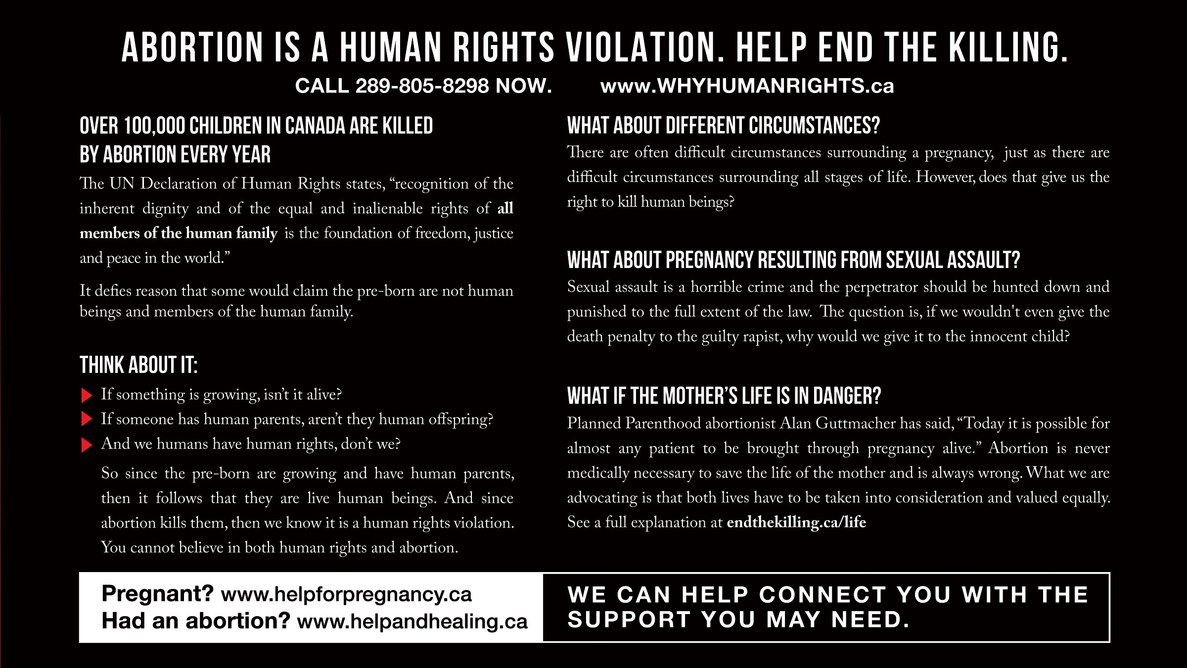 Postcard Human Rights - Back