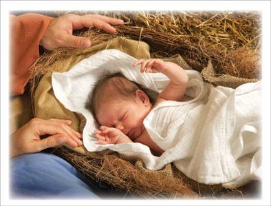 Blank Christmas Card - A Child is Born