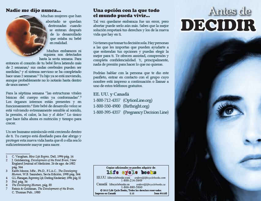 Brochure - Antes de Decidir