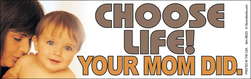 Bumper Sticker - Choose Life Your Mom Did