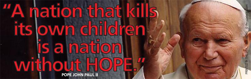 Bumper Sticker - A nation that kills its children