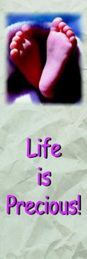 Bookmark - Life Is Precious - Pack of 100