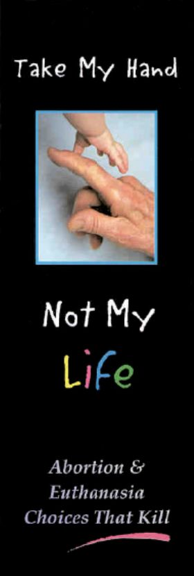 Bookmark - Take My Hand Not My Life - Pack of 100