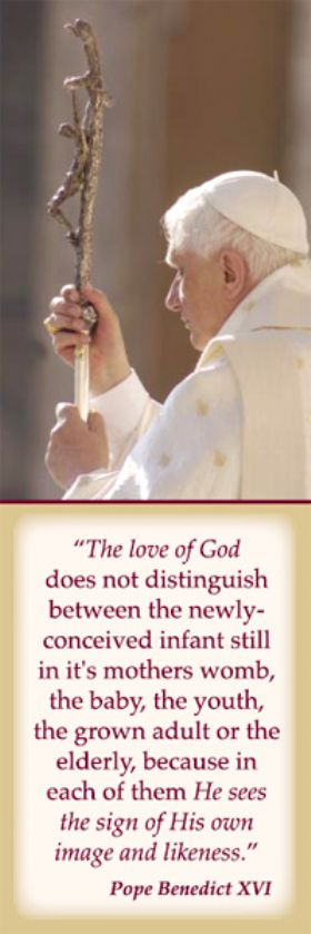 Bookmark - The Love of God - Pope Benedict XVI - Pack of 100