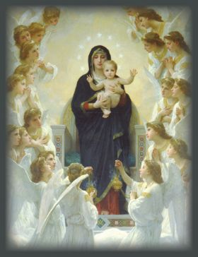 Christmas Card - The Virgin With Angels - Pack of 10
