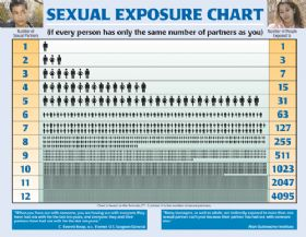 Laminated Poster - Sexual Exposure Chart
