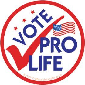 Sticker - Vote Pro Life - Roll of 500