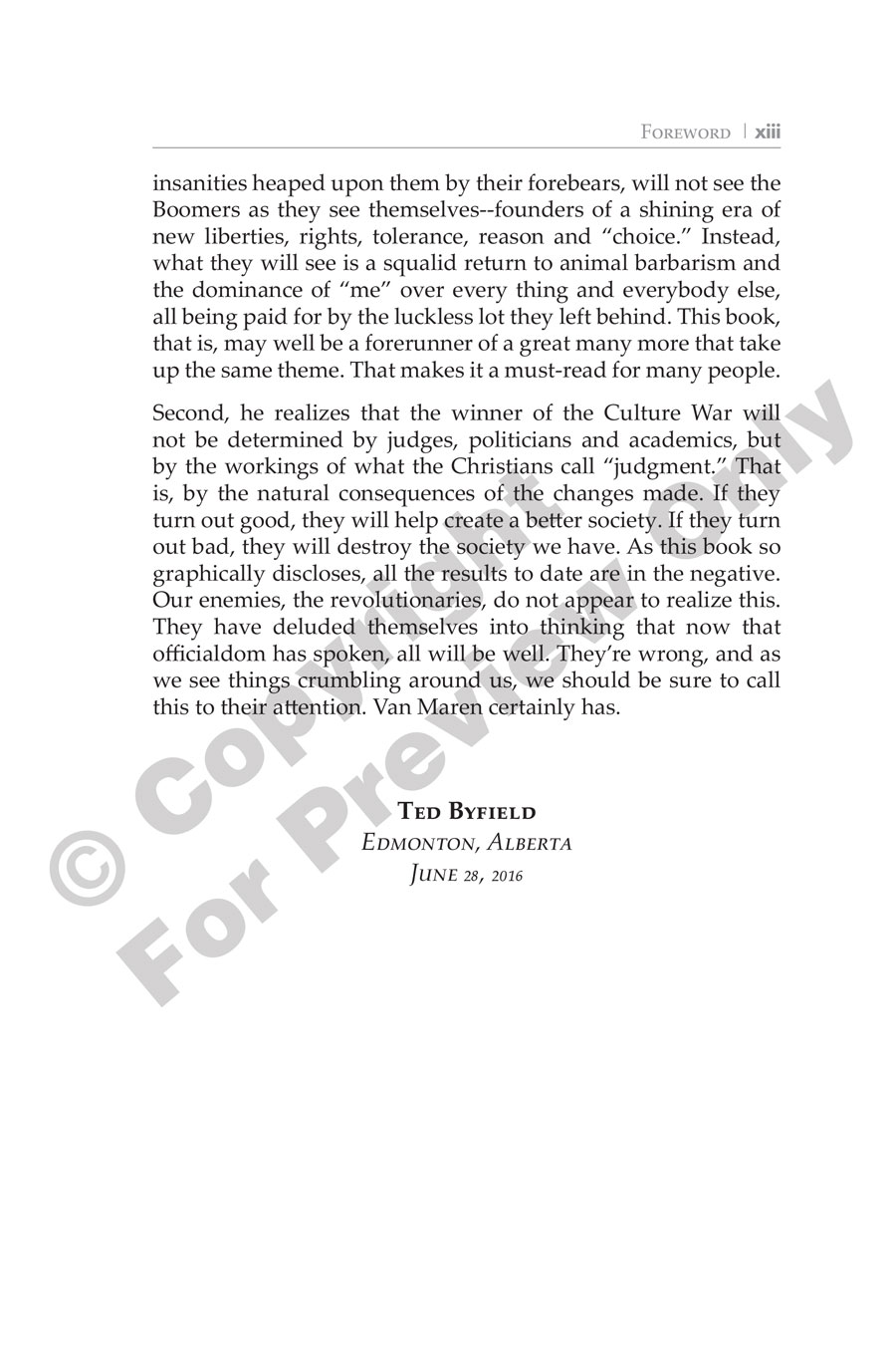 Book - The Culture War - Foreword