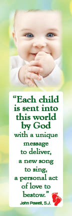 Bookmark - Each Child is Sent Into This World - Pack of 100