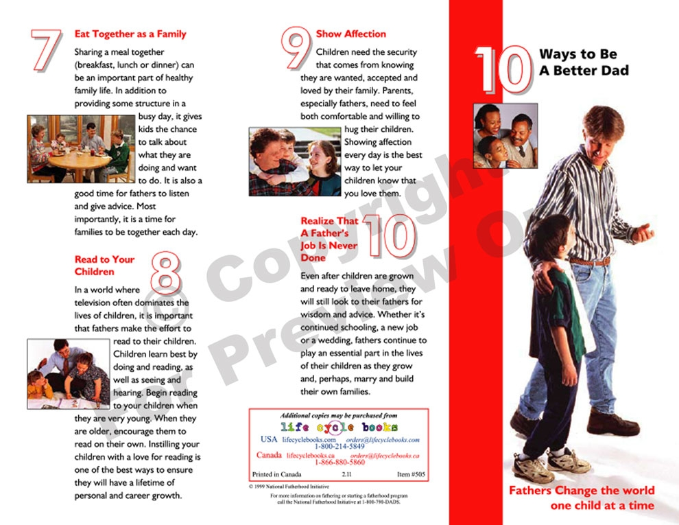 Brochure - 10 Ways To Be A Better Dad