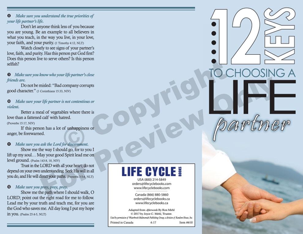 Brochure - 12 Keys To Choosing A Life Partner