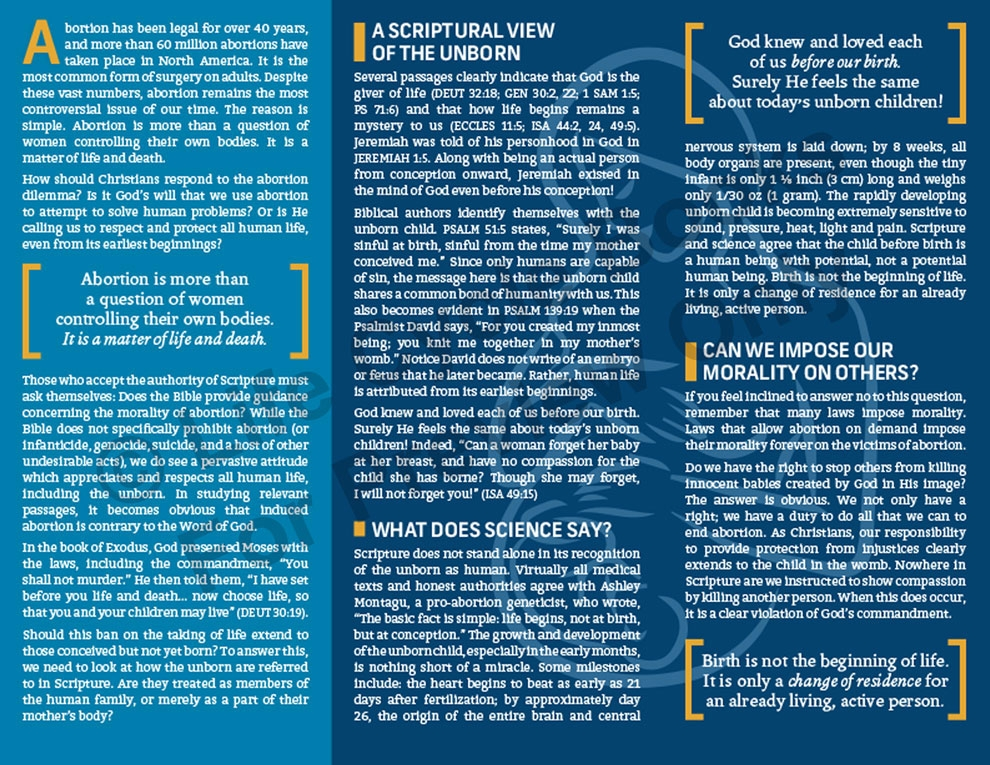 Brochure - A Christian Response to Abortion