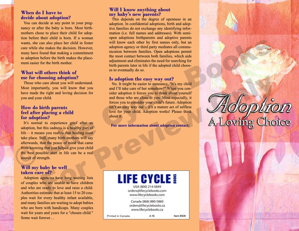 Brochure - Adoption: A Loving Choice