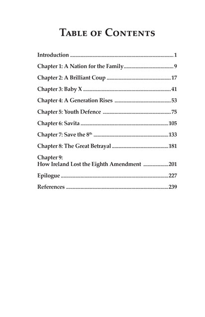 Book - Patriots Table of Contents