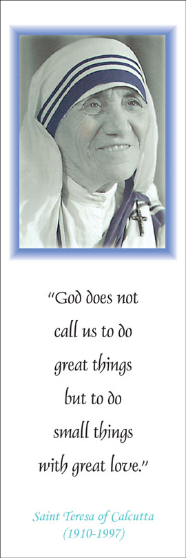 Bookmark - God Does Not Call Us To Do Great Things - Pack of 100
